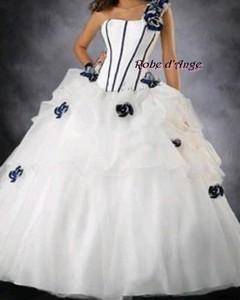 robe de mari e blanche et bleu boutique robe d ange. Black Bedroom Furniture Sets. Home Design Ideas