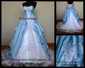 Robe mariee bleu ciel