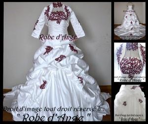 Robe De Mariée Ivoire Et Bordeaux Boutique Robe D Ange
